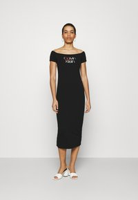 Calvin Klein - BARDOT PIPING DRESS - Maxi-jurk - black - 0