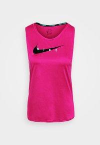 Nike Performance - RUN TANK - Top - fireberry/reflective silver - 3