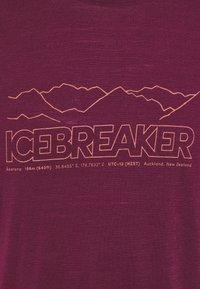 Icebreaker - TECH LITE CREWE STORY - T-shirt print - brazilwood - 2