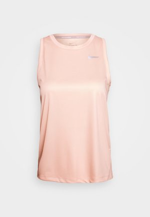 MILER TANK - Sports shirt - washed coral/reflective silver