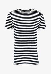 STRIPE - Print T-shirt - navy/white