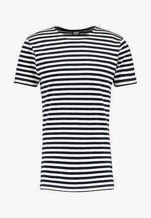 STRIPE - Camiseta estampada - navy/white