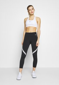 Nike Performance - ONE CROP - Collants - black/white - 1