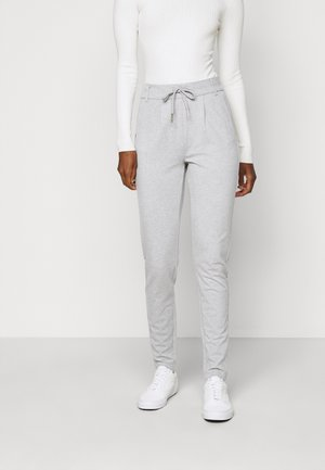 ONLPOPTRASH EASY  PANT - Trousers - light grey melange