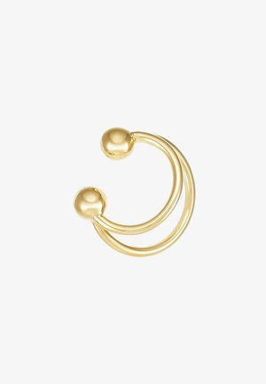 ANNA EARCLIP DOUBLE RINGS - Náušnice - gold-coloured