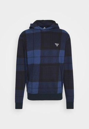 TARTAN HOODIE - Sweatshirt - atlantic blue