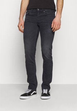 GROVER - Jean droit - dark grey