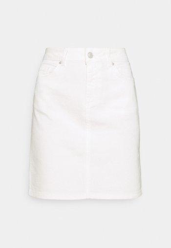 SLFKENNA SKIRT - Minisukně - white denim