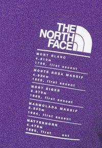 The North Face - GLACIER TEE - Triko spotiskem - mottled purple - 5