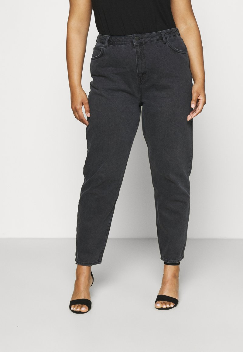 NU-IN - HIGH RISE TAPERED MOM - Relaxed fit jeans - black