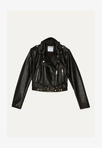 Bershka - BIKERJACKE AUS KUNSTLEDER 01137564 - Faux leather jacket - black - 5