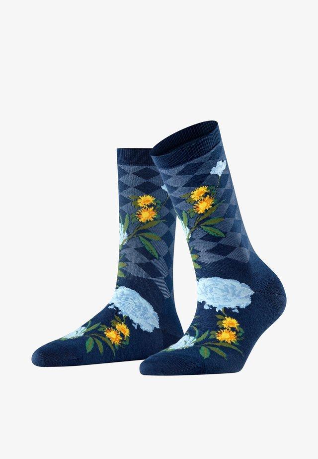 COUNTRY FLOWER - Socks - marine