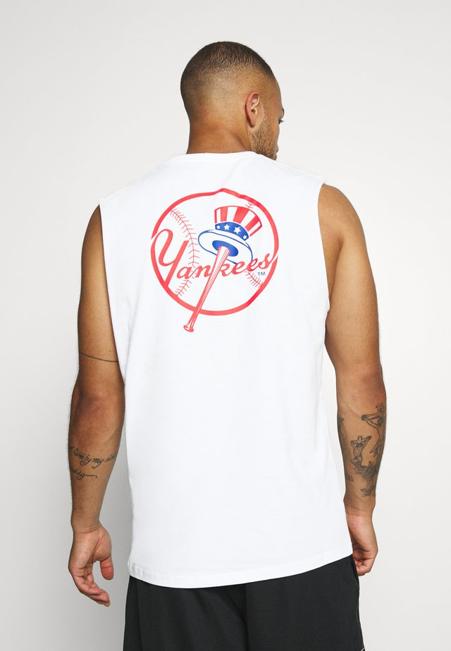 MLB SLEEVELESS TEE NEW YORK YANKEES - Club wear - white
