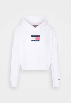 AMERICANA BADGE HOODIE - Bluza z kapturem - white