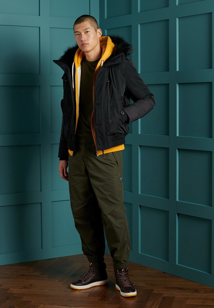 Superdry - OL VINTAGE EMB  - Basic T-shirt - winter khaki grit