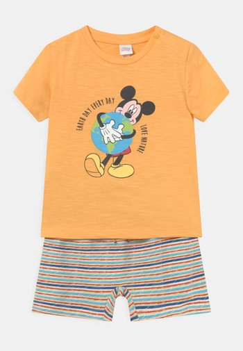 SET - Print T-shirt - warm apricot