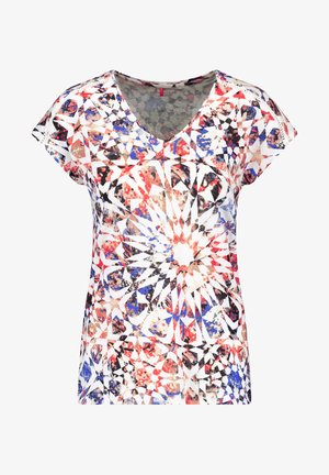 Print T-shirt - rot/orange/blau multicolor