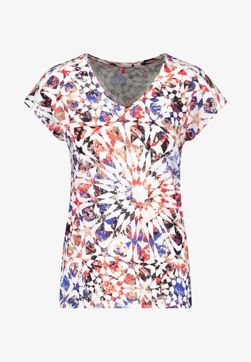 Gerry Weber - Print T-shirt - rot/orange/blau multicolor
