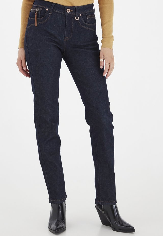 Straight leg jeans - raw blue denim