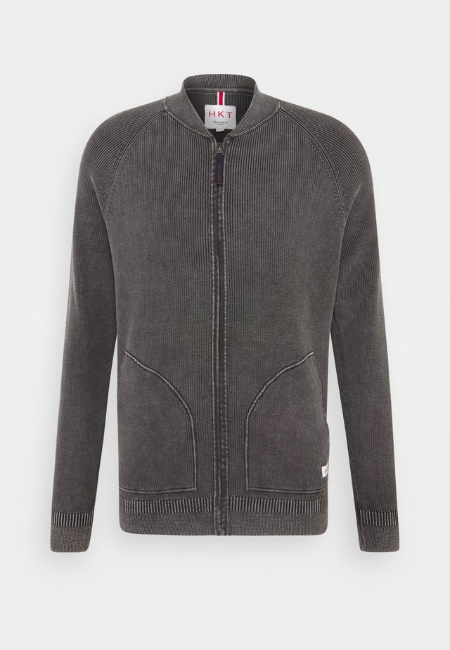 BOMBER - Cardigan - charcoal
