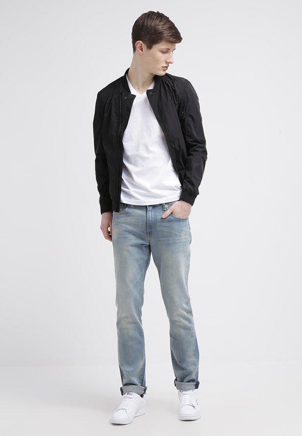 GANT ORIGINAL SLIM V NECK - T-shirt basic - white/biały Odzież Męska VBDF