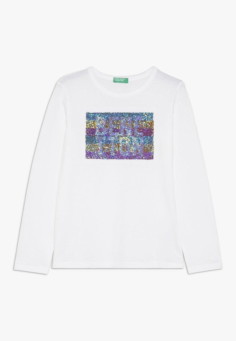 Benetton - Camiseta de manga larga - white