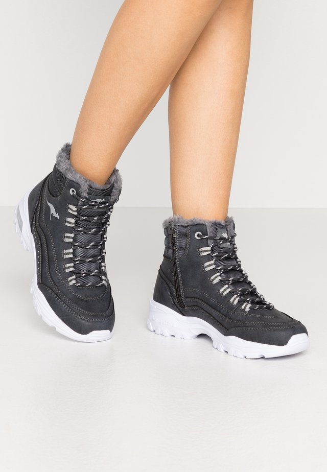 KW-LOOMY - Lace-up ankle boots - steel grey/vapor grey