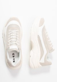 NA-KD - CHUNKY PROFILE TRAINERS - Matalavartiset tennarit - offwhite - 3