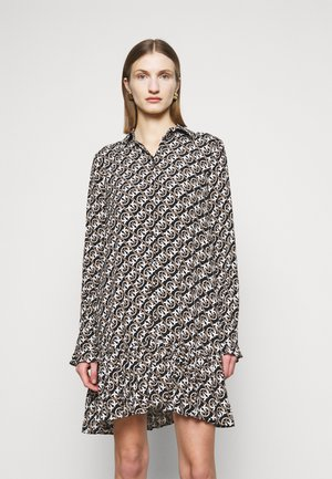 BIG FISH - Shirt dress - nero/beige/bianco