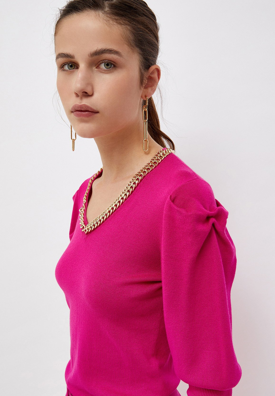 Mujer WITH PUFF SLEEVES - Jersey de punto