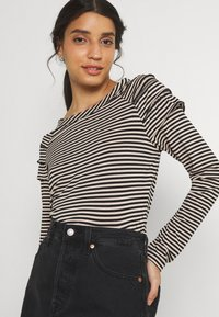 b.young - BYSUVA STRIPE  - Long sleeved top - black mix - 3