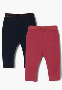 s.Oliver - 2 PACK - Leggings - Trousers - dark blue/pink - 1