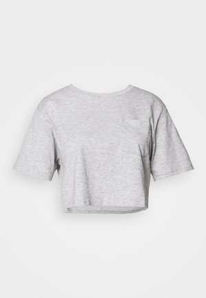 T-shirts med print - mottled light grey