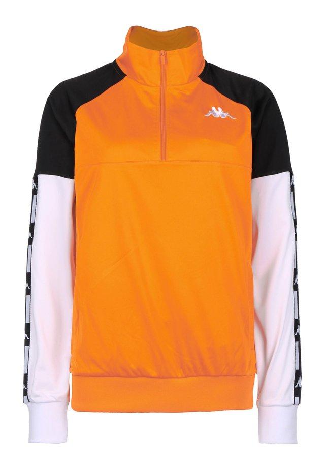 Felpa - orange / black / white