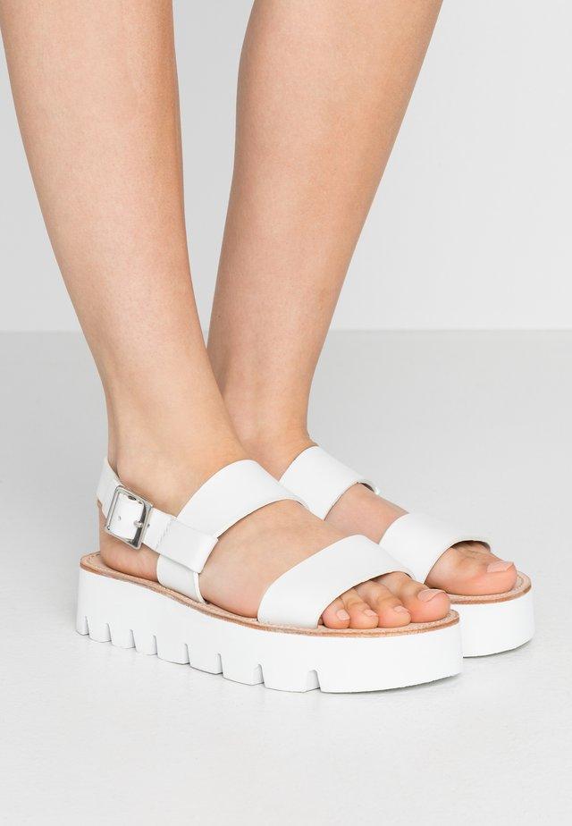 ASTRID - Platform sandals - white