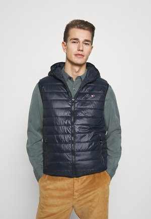 QUILTED REVERSIBLE GILET - Weste - blue