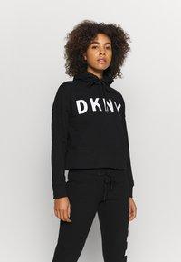DKNY - EXPLODED LOGO HOODIE - Sweatshirt - black - 0