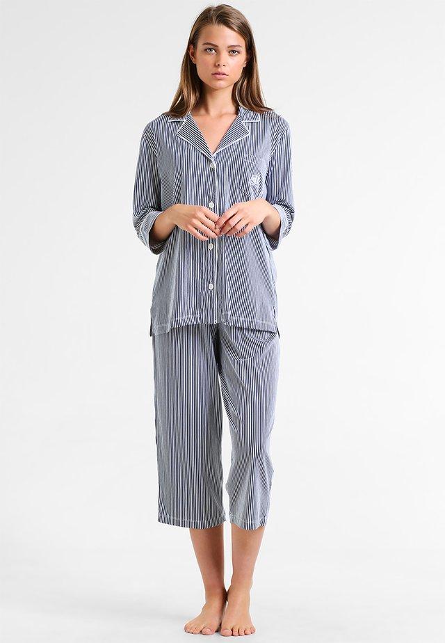 HERITAGE 3/4 SLEEVE CLASSIC NOTCH COLLAR SET - Pyjama - windsor navy/ white stripe