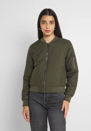 ONLTANZIA QUILTED - Bomber Jacket - grape leaf