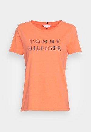 REGULAR FLORAL - T-shirts med print - orange