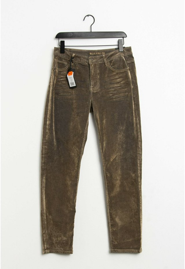 Straight leg jeans - olive