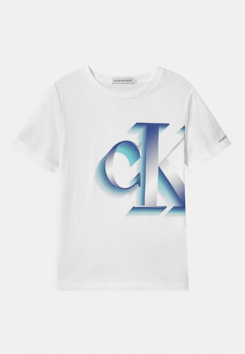 Calvin Klein Jeans - PIXELATED MONOGRAM - Print T-shirt - white