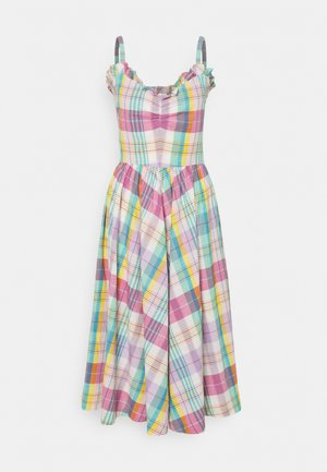 MADRAS - Day dress - white/pink