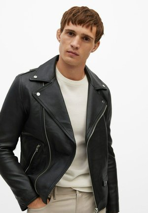 PERFECT - Leather jacket - černá