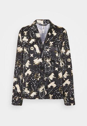 NIGHT SHIRT ASTRO - Pyjama top - black