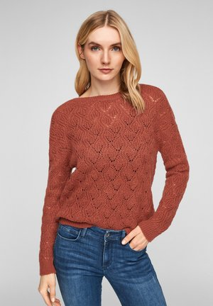 TRUI - Jumper - rust red