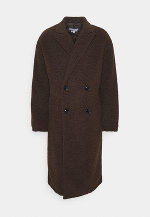 ARIES BORG LONGLINE OVERCOAT - Classic coat - brown