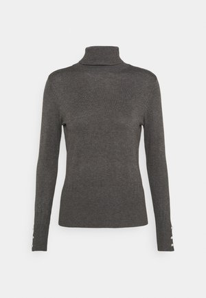 PEARL CUFF ROLL NECK JUMPER - Jumper - charcoal