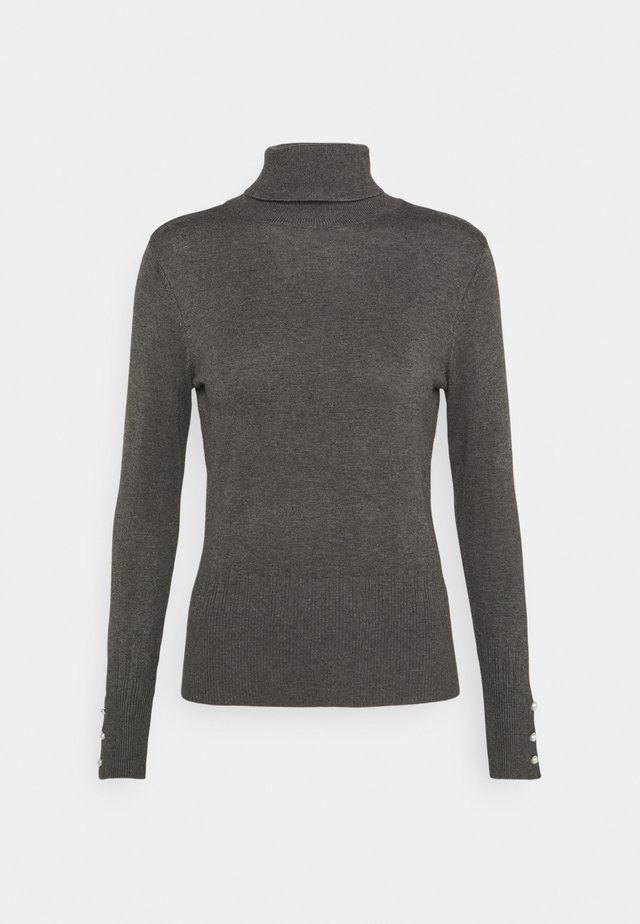 PEARL CUFF ROLL NECK JUMPER - Trui - charcoal
