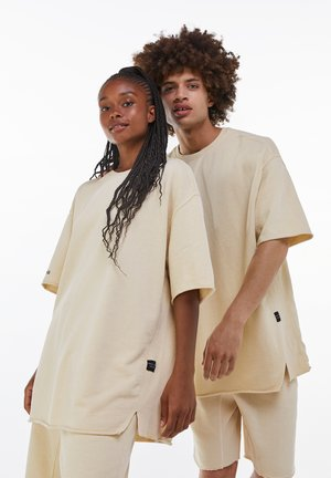 OVERSIZED SHORT SLEEVE SWEAT - T-shirt - bas - light grey